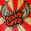 "jesse_the_k: Words ""Icon Love"" with wings, acid rock 60s style (icon love)"