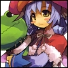 schattenstern: Mel from Luminous Arc, a child witch with a mushroom hat and a plush frog (Luminous - a witch and her frog plushie)