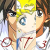 "apollymi: Heero, Usagi, and Duo, close up on their eyes, text reads ""OT3"" (OT3: Duo/Usagi/Heero (eyes))"