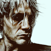 fanatic_os: hollow-faced and eyed man, lank grey hair, sullen face, 3/4 profile, looking away (post-death: surly bastard)
