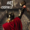 muccamukk: Thor standing in Asgard throne room, hammer raised in triumph. Text: Art Crawl! (Thor: Art Crawl!)