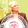 chaila: Leslie Knope looking proud, overlaid with the seal of of the U.S. President. (parks - leslie knope)