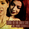 phoenix64: Doppleganger Willow: Come to the darkside, we have cookies (btvs willow dark side cookies)