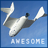 ext_8669: A picture of SpaceShipOne with the word Awesome on it. (I <3 SpaceShipOne)