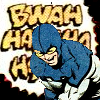 lb_lee: The Blue Beetle, Ted Kord, doubled over laughing. From Justice League International #7 (bwa-hah-ha)