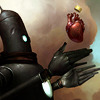 outlineofash: An android reaches for a heart to insert in its chest cavity. (Fiction - SF)