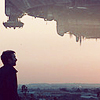 nishatalitha: Spaceship from District 9 & human being both silhouetted against the sky (District 9 Silhouette)