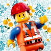 nishatalitha: Main character from the Lego movie against a flowery background (Everything is AWESOME (lego movie))
