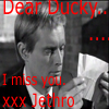 "nishatalitha: image: Ilya Kurakin reading a letter; text=""Dear Ducky, I miss you. X.x. Jethro"" (I miss you, Dear Ducky)"