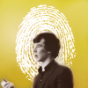 nishatalitha: image; sherlock with a halo made out of a fingerprint (Sherlock - Angel of Deduction)