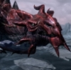 drakelyn: close-up face of a red dragon from the game Skyrim (Default)