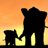 littlegirllost: (baby & momma elephant)