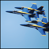 highlander_ii: 4 Blue Angels F18's flying in diamond formation 18-inches apart ([F18] Blue Angels - 18in)