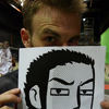 lily_gish: Chris Evans, as Lucas Lee, holding up a drawing of Lucas Lee (Double the Lucas Lee)