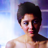 amihan: sophie wu as jay in the fades, shoulders bare, looking towards the left ([the fades] jay)