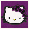 sofiaviolet: winking Hello Kitty (purple Hello Kitty)