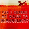 sofiaviolet: Can I change my major to demonology? (demonology, school)