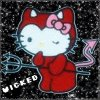 sofiaviolet: Hello Kitty in devil costume with pitchfork (Hello Kitty will eat your soul)