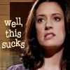 clare_dragonfly: Prentiss from Criminal Minds grimacing, text: well, this sucks (CM: Prentiss: this sucks)