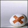 sofiaviolet: a cracked egg with bandaids holding it together (cracked)