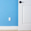 faere: white door, blue and white wall (blue room white door)