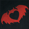 sofiaviolet: Clandestine Industries bat-heart logo (clandestine)