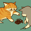 sofiaviolet: from Threadless t-shirt: two kittens playing with a grenade (this will not end well)