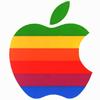 sofiaviolet: old-school rainbow Apple logo (apple)