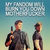 notsosureofit: (my fandom will burn yours!) (Default)