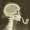 blighted_garden: (holmes skeleton, sherlock holmes, skull)