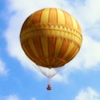 skieswideopen: Hot air balloon against blue sky (Gen: hot air balloon)