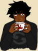 chokokatmeow: humanstuck karkat with a crab mug (Default)