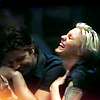 enigel: Kara Thrace and Sam Anders laughing drunkenly (BSG Kara/Anders)
