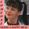 "zlabya: Photo of Abby from NCIS with text: ""Someone needs a Happy Meal!"" (AbbyHappyMeal)"