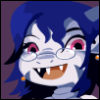 bigfatfae: Krissy as Misery in the style of Cave Story icons~ (Default)