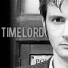 "shyfoxling: David Tennant as the Tenth Doctor with text reading ""Time Lord"" (doctor who (ten))"