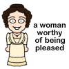 emceeaich: A cartoon icon of Lizzy Bennet from Pride and Prejudice. (lizzy)