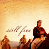 "tripudiare: Image: Simon, Zoe, & Jayne on horseback, Text: ""Still free"" (Firefly: Malcolm Reynolds (free))"