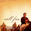 "tripudiare: Image: Simon, Zoe, & Jayne on horseback, Text: ""Still free"" (Firefly: Malcolm Reynolds (free))"