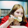 jadelennox: Amelia Pond devouring custard (doctor who: eating amelia)