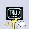 merzibelle: Odie's arm appears in the icon surrounded by dust clouds holding a sign reading Thud! (Garfield - Thud!)