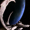 epershand: Deep Space Nine with Bajor in the background (DS9: station)