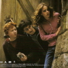 januar: Ron, Harry & Hermione from Harry Potter looking around a corner ([hp] trio)