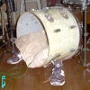 dglenn: Kickdrum (bass drum) with sneakers on the side legs (kickdrum)