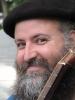 dglenn: My face, wearing black beret, with guitar neck in corner of frame (pw34)