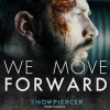 zan77: chris evans as curtis in snowpiercer, gazing desperately ahead of him, captioned 'we move forward' (Default)