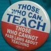 thaccian: teach or pass laws about teaching (Teach button)