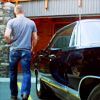 kate: Dean's ass looks better next to the Impala (SPN: Dean's ass is hotter next to the Im)