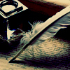 mmestrange: inkwell with quill (Default)