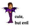 havocthecat: cute, but evil woman with bat wings (feelings evilcute)